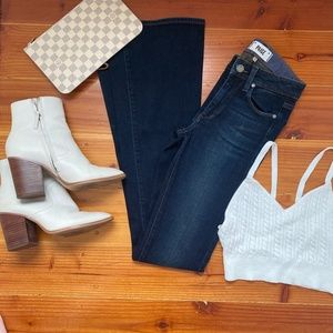 Paige High Rise Bell Canyon Bellbottom Jeans 23